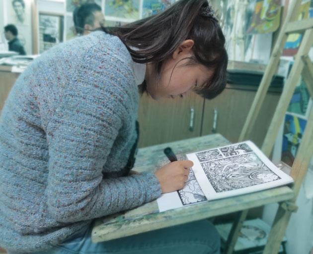 为池州学院专升本艺术设计准备的学员